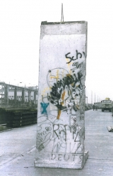 <h5>Thanks Sabine Kurz</h5><p>The photo was taken in Berlin shortly after the Berlin Wall was dismantled. Currently this segment is stored. © &lt;a href=&quot;http://probst-bautraeger.de/&quot; target=&quot;_blank&quot;&gt;Kurz&lt;/a&gt;</p>