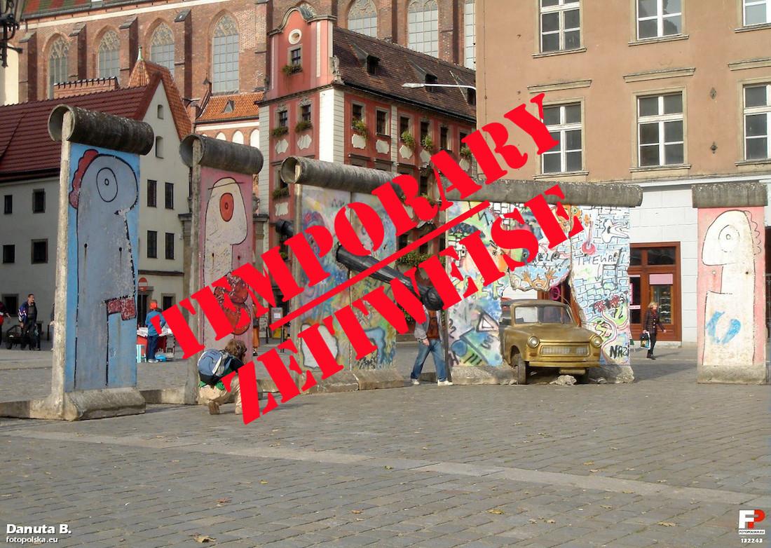 Berlin Wall in Wroclaw, Poland